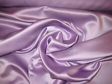 """Lilac 100% Polyester Lamour/Peau Di Soie Satin Fabric 58"""" Wide Sold By The Yard"""