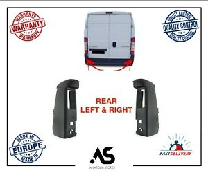REAR LEFT & RIGHT BUMPER CORNER END MAXI FOR DUCATO RELAY BOXER BLACK 7410.CX