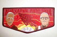 OA AWAXAAWE AWACHIA 535 TRAPPER TRAIL COUNCIL PATCH 100TH ANN S-51 FLAP 300 MADE