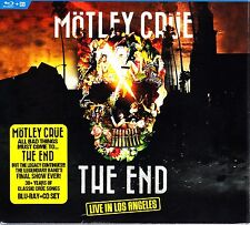MOTLEY CRUE - THE END - LIVE IN LOS ANGELES BLU RAY + CD  DELUXE SET 31st DEC 15