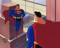 Warner Brothers Animated Series Production Cel-Superman/Bizarro-Identity Crisis