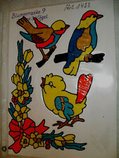 Window Color Fensterbilder Deko Blumenranke + 3 Vögel