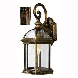 Bel Air Lighting Wentworth 1-Light Black Copper Outdoor Wall Lantern Sconce