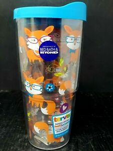 Tervis Tumbler 24 OZ Double Wall Whimsical Foxes Bed Bath & Beyond NEW