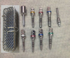 Dental Bone Compression Screws and Driver set of 9 pcs Dental Implant Instrument