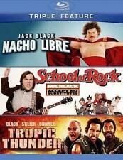 Nacho Libre/School of Rock/Tropic Thunder (Blu-ray Disc, 2013, 3-Disc Set) NEW