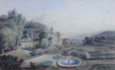 François Edme RICOIS (1795-1881) Vue de château Mareil-Marly Courtalain Girodet