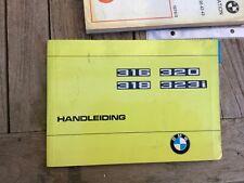 Handleiding  bmw 316 /323i 1976  compleet maar los