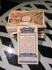 "PLAYERS ""CELEBRATED GATEWAYS 1909"" FULL SET VG+ [s]"