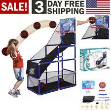 Indoor Outdoor Basketball Hoop Arcade Game Room Kids Goals Ball pump Family Sb