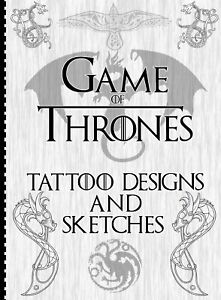 Book of 26 Pages Approx 60 Designs Game Of Thrones Sketches Tattoo Letter Fonts