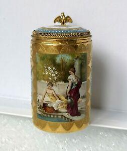 sehr schöner alter kleiner Porzellan-Krug / Bindenschild-Marke Wien Thüringen ?