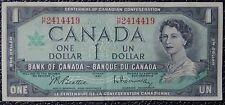 BANK OF CANADA 1967 - $1 FULL HOUSE POKER NOTE- H/P2414419 - Beattie&Rasminsky