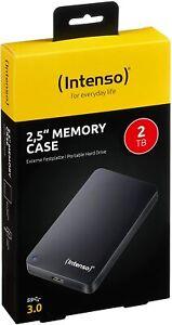 """Intenso 2TB 2.5"""" Memory Case USB 3.0 disco rigido Hard Disk esterno 2000GB Nuovo"""