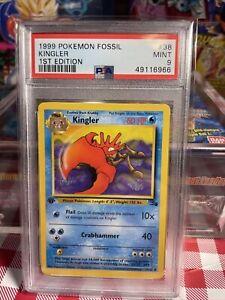 1999 Pokemon Fossil 1st Edition Kingler #38 PSA 9 MINT WOTC BGS CGC