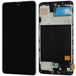 Komplette LCD Display Einheit Für Samsung Galaxy A51 A515F Bildschirm mit Rahmen