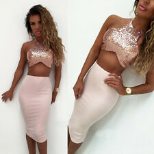 Sexy-Womens-Sleeveless-Bandage-Bodycon-Sequins-Party-Cocktail-Club-Mini-Dress