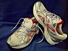 DUOMAX ATHLETIC TENNIS SHOES SILVER RED SIZE 10 SNEAKERS IGS GT-2150