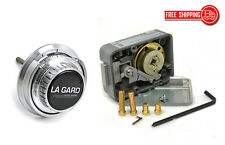 LAGARD COMBINATION LOCK LG 3330 WITH LG 2085-SC SPY PROOF DIAL SET -SATIN CHROME