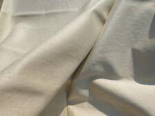 60's 70's VINTAGE Drapery Fabric Pale Tinge Green/Gray Duppioni Home Decor 6+YDS