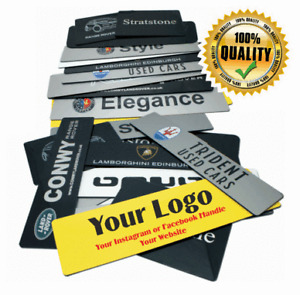 Show Custom Number Plate Cover Dealer BMW Car Sales Acrylic Car Competitions