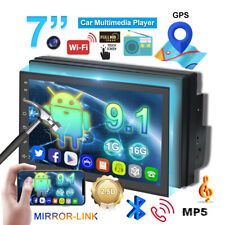 Android 9.1  Double Din Car Stereo  Radio  GPS Navigation Player WIFI 7 Inch USB