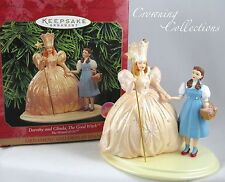 1998 Hallmark Dorothy and Glinda the Good Witch Keepsake Ornament Wizard of Oz &
