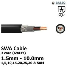OFFER Steel Wire 3 Core Armoured SWA Cable 1.5, 2.5, 4.0, 6.0 10mm Outdoor 6943X