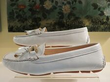 NWB WOMENS AUTHENTIC PRADA WHITE PATENT LOAFER FLAT MOCCASIN SHOES SIZE 40/10