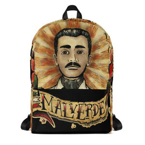 Jesus Malverde Mexican Saint Traditional Tattoo Backpack Breaking Bad Outlaw BAG