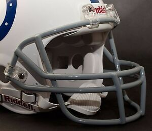 MARVIN HARRISON INDIANAPOLIS COLTS Schutt OPO Football Helmet FACEMASK - GRAY