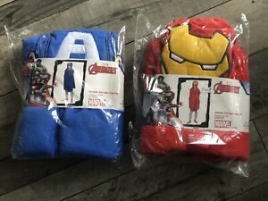 Marvel Avengers Iron Man & Captain America Cuddle Robe / Blanket 80 X 120cm Pair