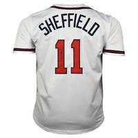 Gary Sheffield Signed Atlanta White Baseball Jersey (PSA)