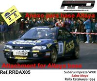 DECAL/CALCA 1/43; ANEXO Subaru Impreza WRX; Sainz-Moya; Rally Catalunya 2004