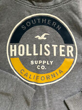Hollister Mens Hoodie Sweatshirt Grey Size Medium Great Condition