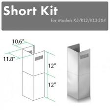 Zline Short Wall Outdoor Chimney kit 7-8 ft ceiling for models Kb, Kl2, Kl3-304