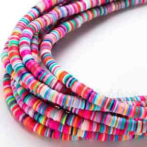 350 Pc's 6mm Mix Color Shape Clay Polymer Loose Beads for Jewelry Making
