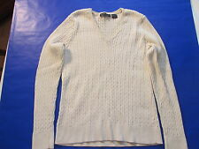Girl's ivory knitted sweater sz S