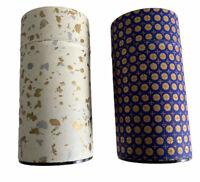 Teavana Tea Empty Tins Limited Edition Round Japanese Blue White