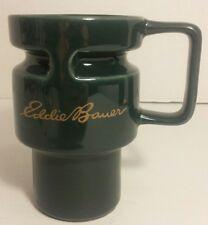 "EDDIE BAUER 5.25"" GREEN COFFE MUG with non slip bottom cushion"