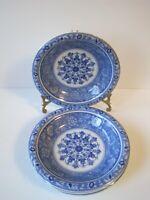 """Vintage Blue Trevi Sanyo Japan Andrea By Sadek Blue Set Of 4 Serving Plate 8"""""""
