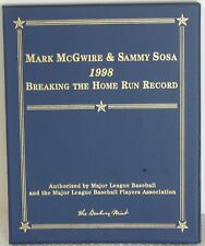 "D59 - Mark McGwire & Sammy Sosa ""1998 Breaking The Homerun Record"" Book & Cards"