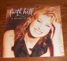 Faith Hill It Matters to Me Poster 2-Sided Flat Square 1995 Promo 12x12