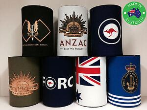 7x Military AUSTRALIA OZ ANZAC Designer Stubby Holder Cooler Koozie