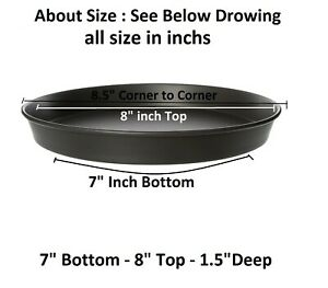 """Commercial Heavy Duty Non Stick Hard Coated Pizza Pans 1.5""""Deep Oven Trays Round"""