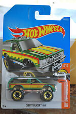 2017 Hot Wheels HW HOT TRUCKS 8/10 Chevy Blazer 4x4 1/64 Die Cast Car
