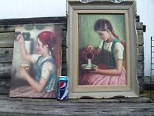 HUNGARIAN Artist  Karoly Rozsa   2 Oil's On Canvas of Hungarian Girls