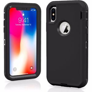for iPhone 11/12/13 xs max 8 PLUS XR Defender Case Impact Rugged hybrid cover