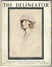 Delineator Magazine 1921 Madame Curie Paper Dolls Color Ads Djer Kiss Pompeian