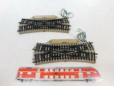 CB189-0,5# 2x Märklin H0/AC 5207 Kreuzungsweiche M-Gleis, ohne Ausgleichsstücke